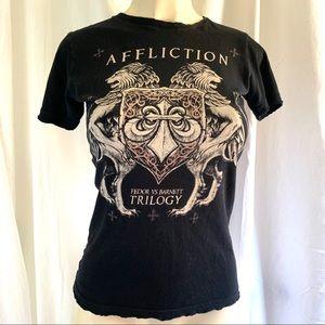 Affliction shirt Trilogy Fedor Barnett Size Medium
